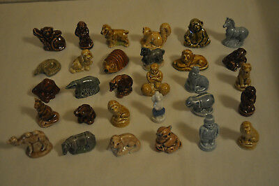 Lot of 30 Different Vintage Wade Whimsie England - Red Rose Tea Figurines