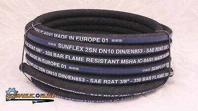 """Hydraulic Hose 3/8"""" Two Wire 20 Meters SAE100R2-06 MSHA EUROPEAN MADE 4890 PSI"""