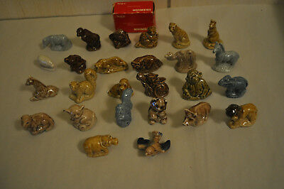 Lot of 26 Different Vintage Wade Whimsie England - Red Rose Tea Figurines