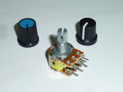 Dual linear track potentiometer with knob