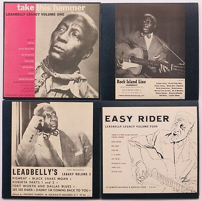 "LEADBELLY Set of Four 10"" LP's LEADBELLY LEGACY Vol 1-4 Early 1950's PRESSINGS"