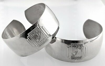 Vintage Lot Cuff Bracelet 1933 Century of Progress Chicago World Fair Silvertone