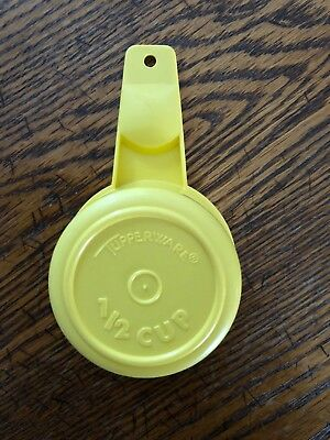 Tupperware 764 Replacement 1/2 Cup Daffodil Yellow Measuring Cup no Damage