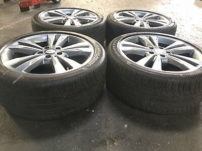 """18"""" Inch 2015 Mercedes Benz E300 Oem Take Off Wheels With Pirelli Tires"""