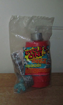 1997 Wendy's Kids Meal Toy Cycle On! Water Bottle & Squidward PEZ from Spongebob
