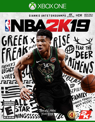 NEW NBA 2K19 For The Microsoft XBOX One S X 4K HDR 2K 19 2019 Basketball Game