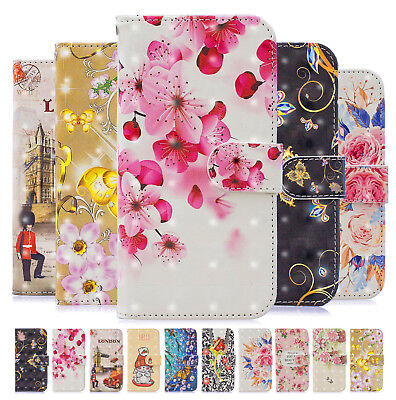 3D Flip Leather Wallet  Magnetic Phone Case Cover for Samsung J3 J4 J6 A8 2018