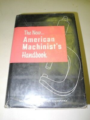 The New American Machinist's Handbook 1955, Dust Cover, Nice Condition, Clean