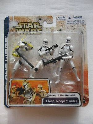 Star Wars CW - 3pack *** Clone Trooper Army Yellow Variation *** Selten ***
