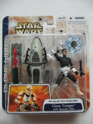 Star Wars CW - 3pack *** Clone Trooper & Speederbike *** Selten ***