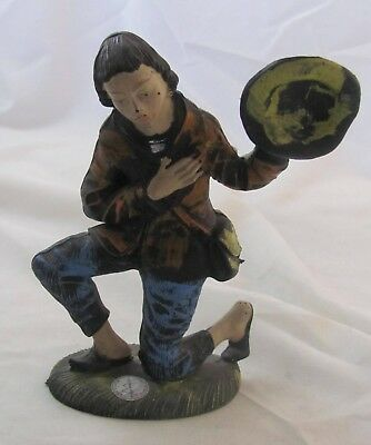VTG-Italian Nativity Figurine, Montecatini,Old World,Hand Painted,Kneeling Boy