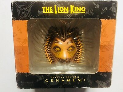 Disney The Lion King Special Edition (Hanging) Ornament Lion Head Mask Christmas