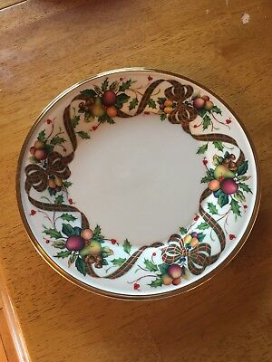 """Lenox China~Dimension Collection~Holiday Tartan~ Accent Luncheon Plate~9 3/8"""""""