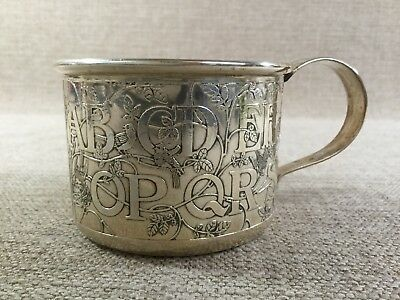 STUNNING WILLIAM KERR STERLING SILVER Baby Cup ABC Large 3.9oz