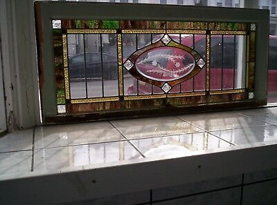 Stained glass window etched
