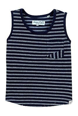 a03e73cad55517 NEW  65 SOVEREIGN CODE Men s BLUE STRIPED POCKET COTTON TANK TOP SHIRT SIZE  M