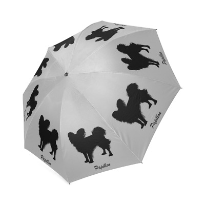 Silhouette PAPILLON Folding UMBRELLA For Dog Puppy Lover Gifts Stuff Memorial