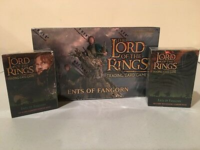 LOTR TCG DECIPHER Ents of Fanghorn Sealed Booster Box and Starter Deck