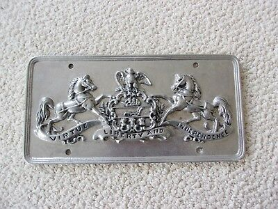 Vintage Pa. license plate, Pennsylvania State Police Collectible.