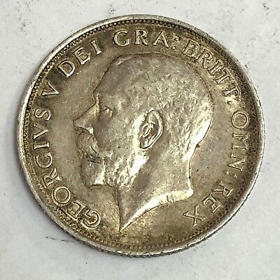 1918 Great Britain One Shilling silver, George V, KM#816, Strong Strike, VF+