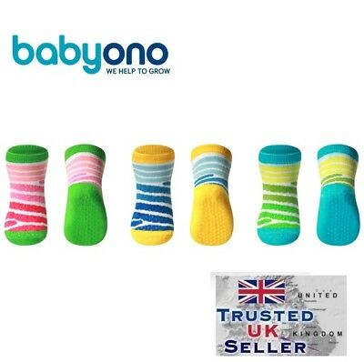 Baby Boy Girl Non Slip Cotton Socks for crawling 6m+ Babyono