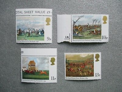 HORSE RACING 1979 - complete set GB unmounted MINT POSTAGE STAMPS