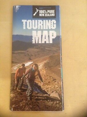 New Zealand 100% Pure New Zealand Touring Map