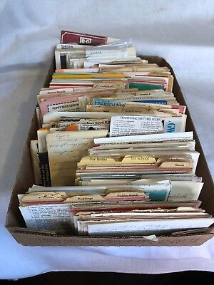 Large Lot of Vintage Home Recipes Handwritten Cards and Clipped Estate Find
