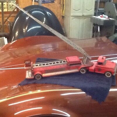 Vintage Press Steel 1960'S Tonka Fire Ladder Truck