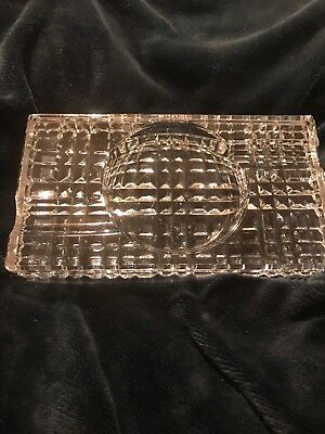 Waterford Crystal Cigar Ashtray in mint condition rectangular design signed