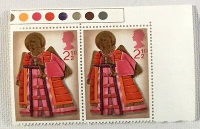 British Stamps (1972) 2.5p Christmas Angel Holding Trumpet Block Of Two Unused