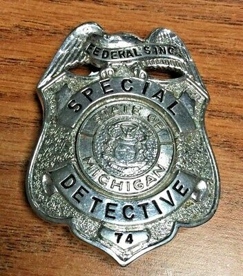 State of Michigan Special Detective Badge #74 - Vintage