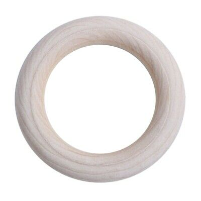 7X(Unfinished Blank Wooden Teether Rings Maple Wood Baby Teething Craft DIY T T8