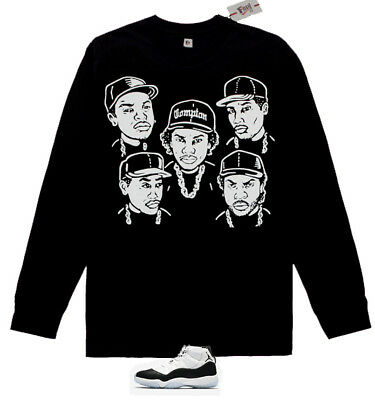 New FNLY94 Long Sleeve NWA shirt for air jordan concord 11 retro M