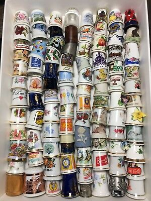 Thimble Vintage Sewing collection, lot of 95,Animals,Flowers,wide variety