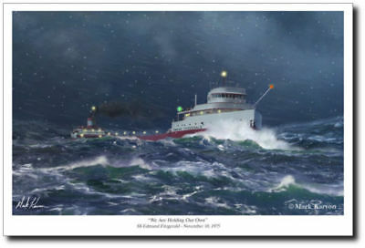 We Are Holding Our Own by Mark Karvon - SS Edmund Fitzgerald - Maritime