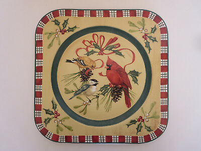 Lenox Winter Greetings Everyday Earthen Wear Square Charger Serving Platter Box