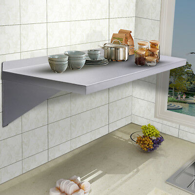 "12""X36""Stainless Steel Restaurant Bar Cafe Kitchen Floating Wall Mount Shelf"