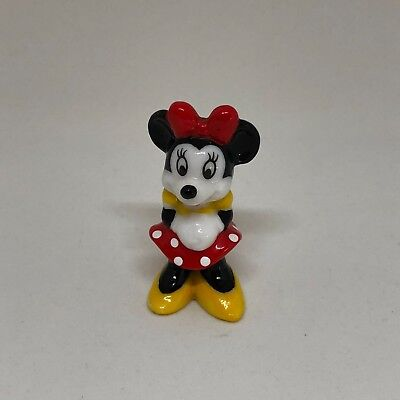 Disney Minnie Mouse Hand Painted Ceramic Porcelain Figurine