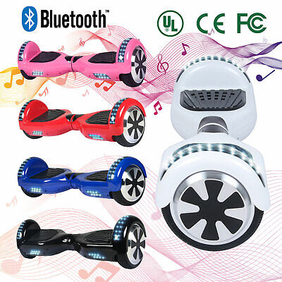 """6.5""""ELECTRIC HOVER BOARD SELF BALANCING SCOOTERS LED Light Rainbow E-Scooter UL"""