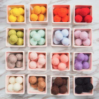 10pcs Fluffy Wool Felt Balls DIY Nursery Garland Decor Pram Hanging Ornament New