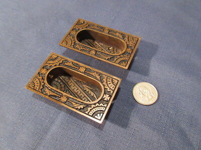 2 Antique Never Used Ornate Branford Oriental Window Pulls Lifts 1886