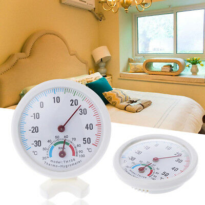 Thermometer Temperature Meter Hygrometer Humidity Clock-shaped Pointer Tool Cool