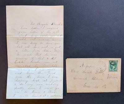 c1870 LETTER of JASPER WILLIAMS in LOS ANGELES California CA DISCUSSES ECLIPSE