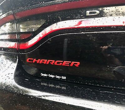 CHARGER Trunk rear decal Overlay badge for Dodge Charger emblem 2015 - 2018