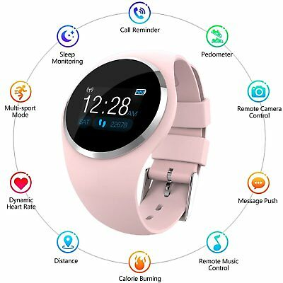 Women&Lady Waterproof Bluetooth Smart Watch Girl's Phone Mate For Android iPhone