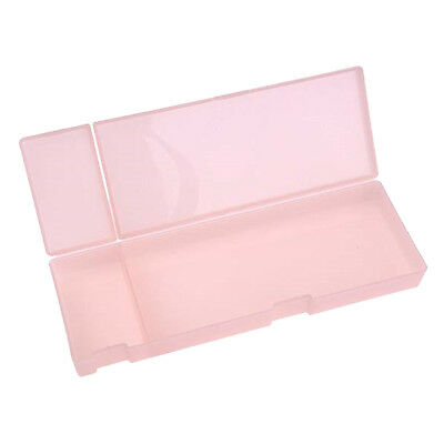 Candy Color Pink Pencil Storage Box Plastic Organizer Cartoleria per bambini