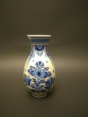 """Antique Small Asian Blue and White Porcelain Vase 5""""Tall"""