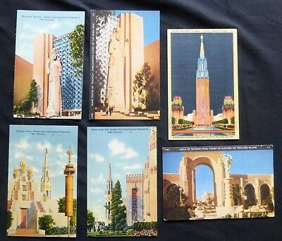 Lot of 6 Post Cards   GOLDEN GATE International EXPO  1939-1940      #3191