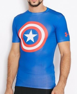 Men's Under Armour Compression Shirt size XL Alter Ego Captain America Heat Gear